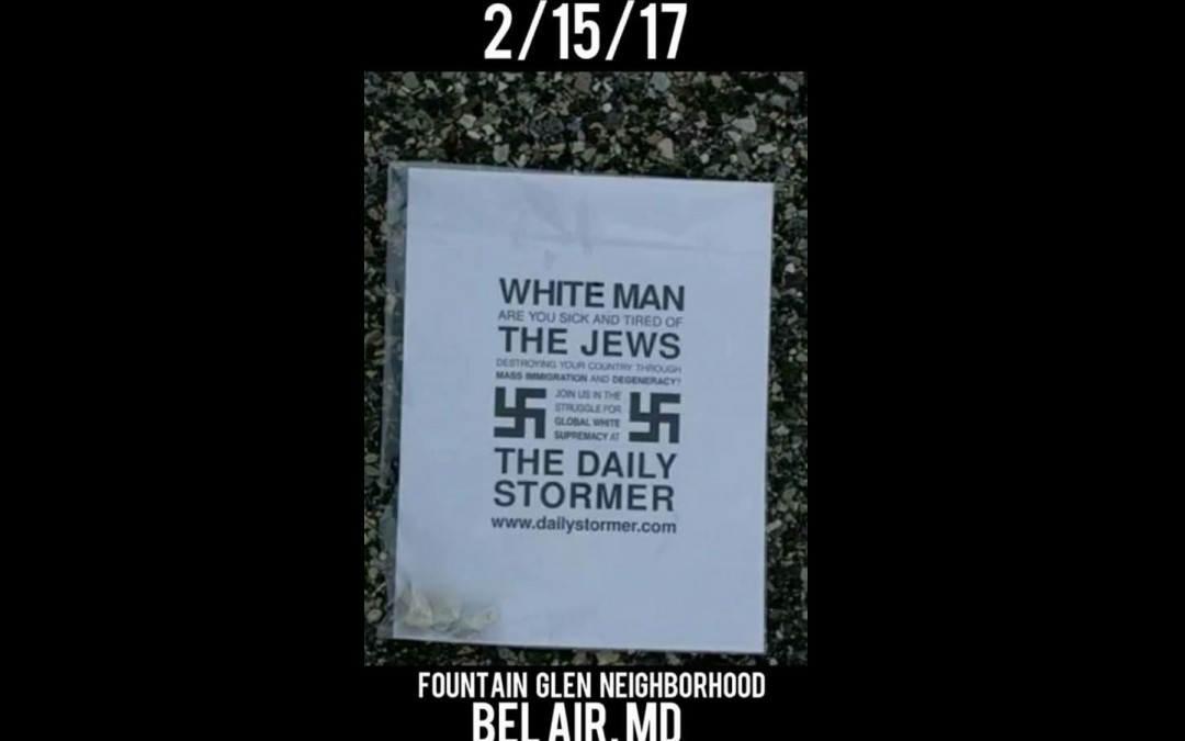 White Supremacist Fliers Discovered in Bel Air