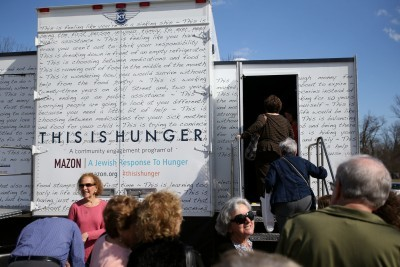 MAZON Truck Makes Stops At BHC, Beth Tfiloh