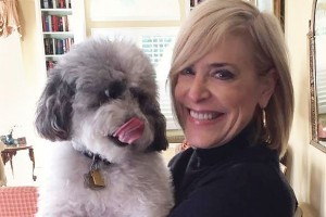 Deborah Stone and her dog