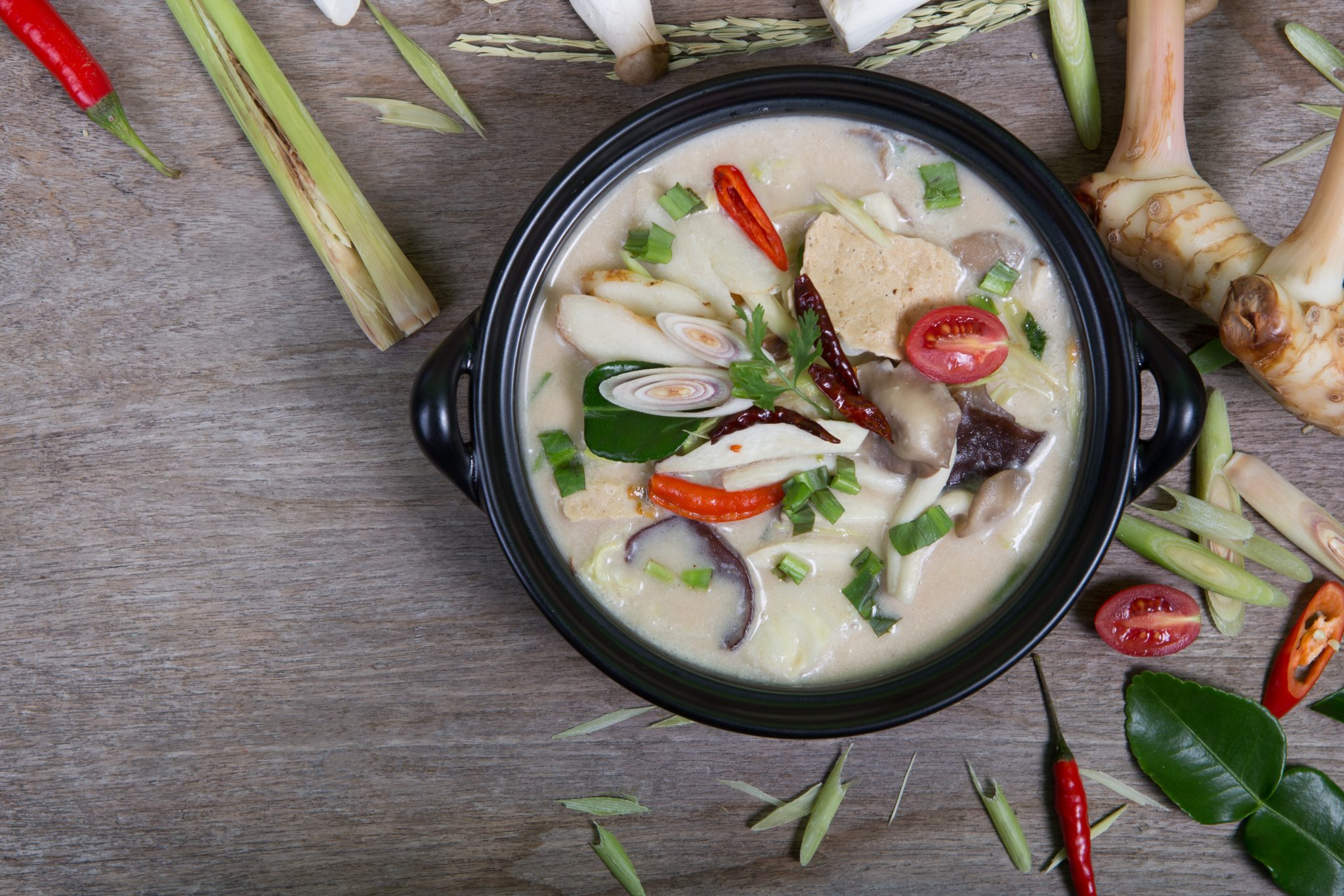 Lemon grass and chicken soup