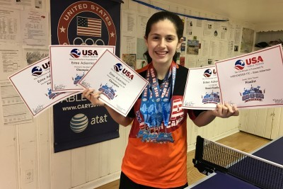 Young Orthodox Table Tennis Champion Wows 'Em in Vegas