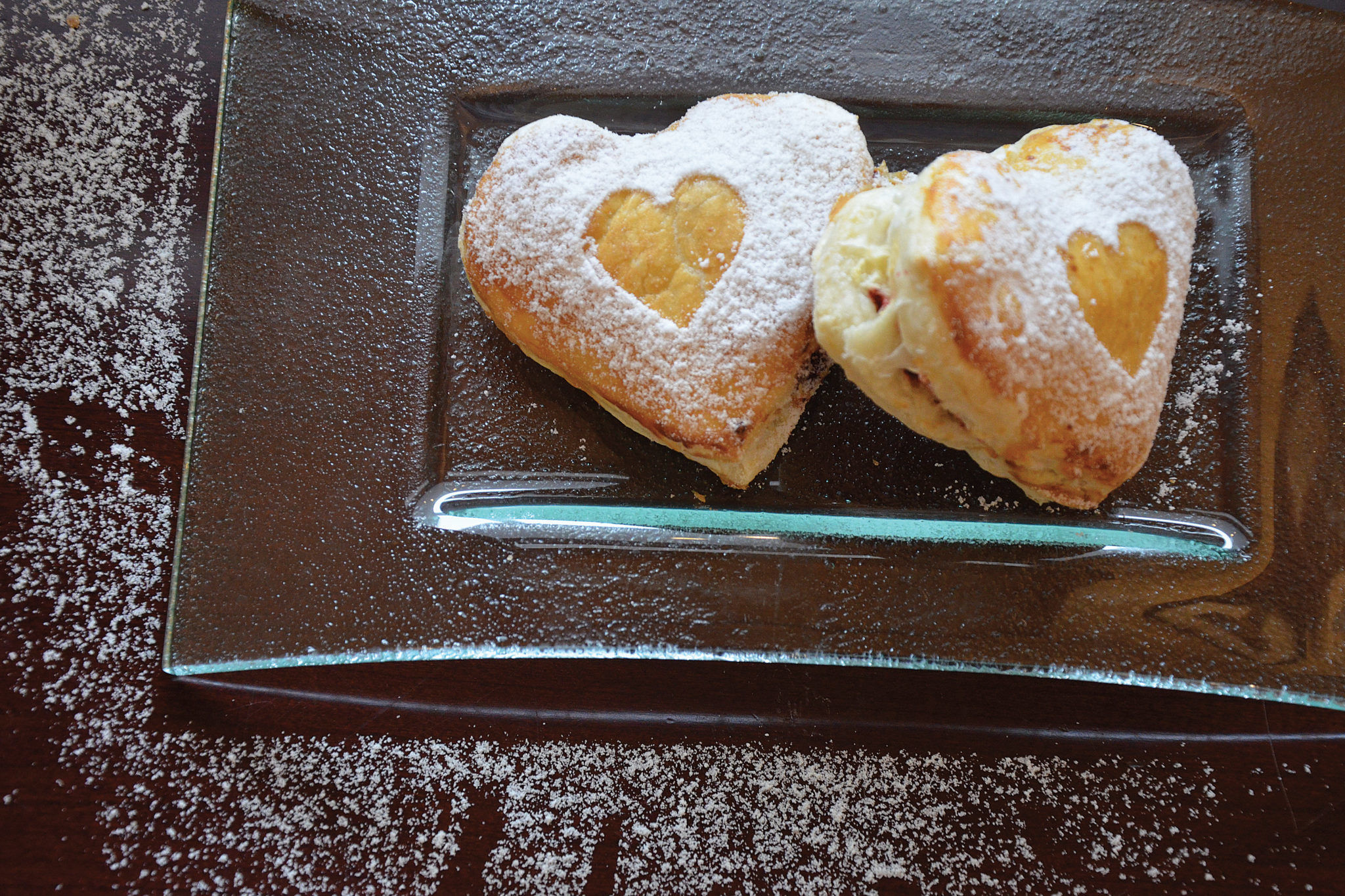 Heart-Shaped Red Velvet and Cheesecake Puff Pastry Photo courtesy of The Classic Catering People