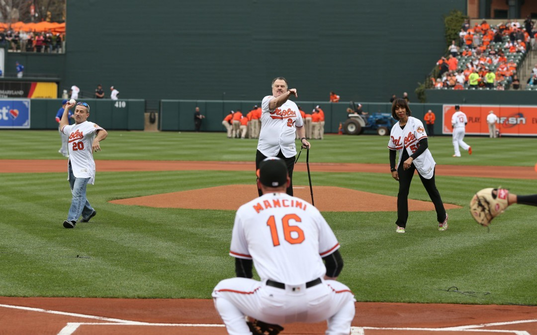 Zirkin Throws Out First Pitch at Orioles' Opening Day at Camden Yards