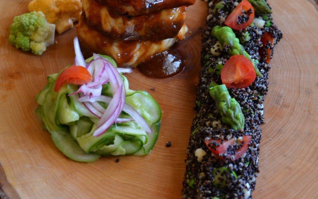 Grilled Rockfish with Wild Cherry Barbecue Sauce
