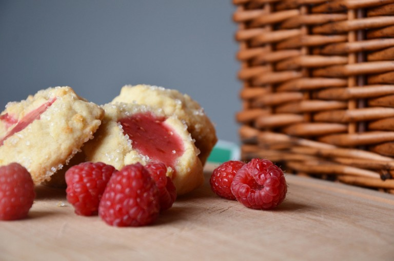 Pink Lemonade Thumbprint Cookies