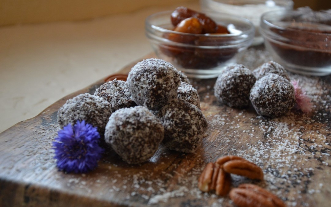 Chocolate Date Nut Truffles