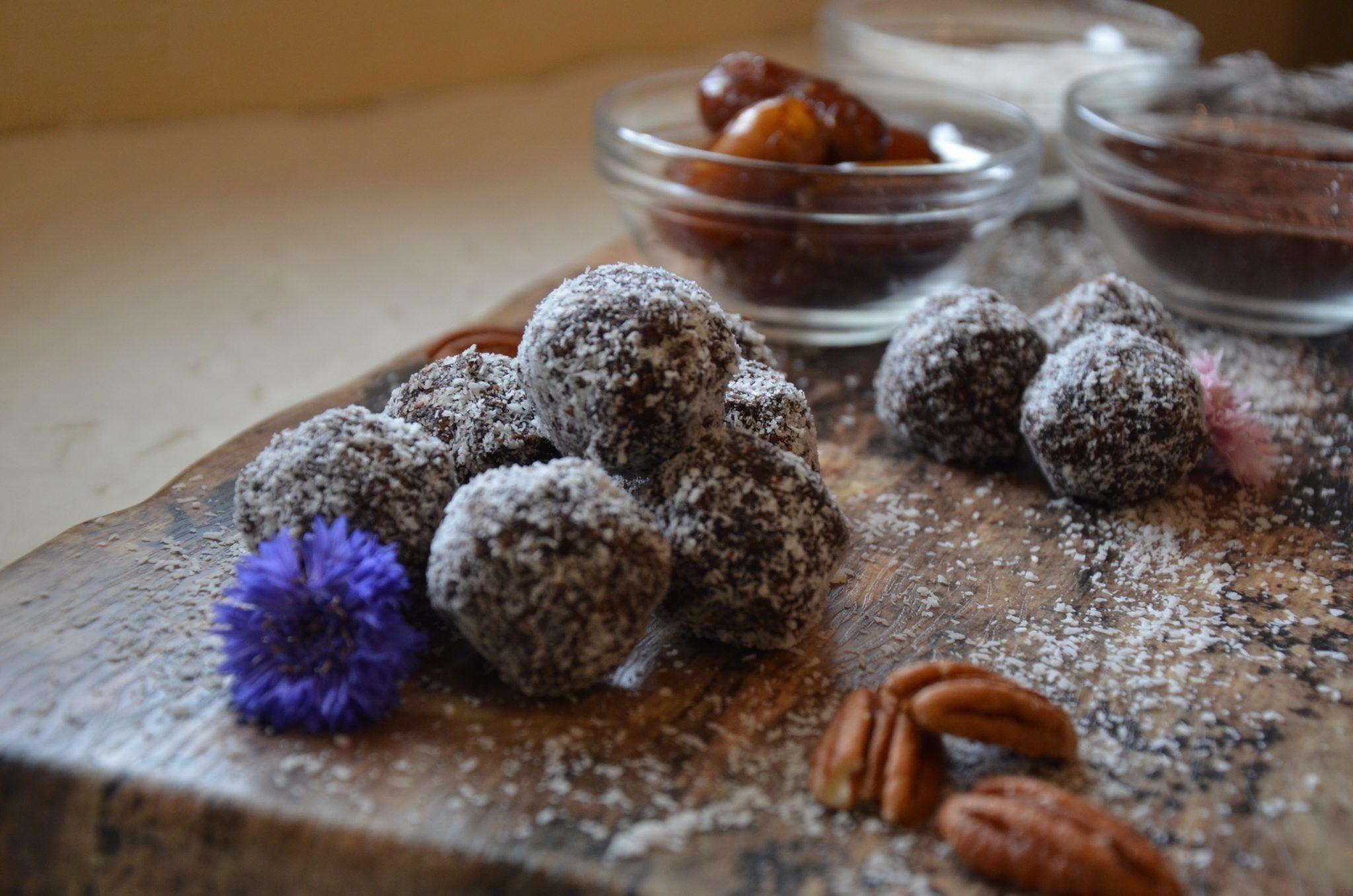 Chocolate Date Nut Truffles