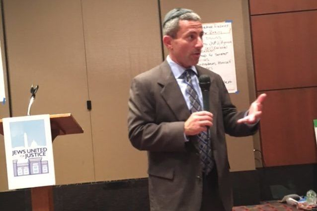 Bobby Zirkin Speaks at Jews United for Justice Meeting