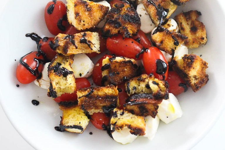 Grilled Challah Caprese Salad