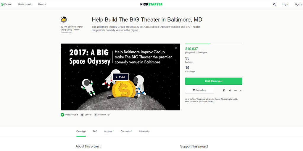 Baltimore Improv Group Raising Funds to Renovate New Space — Baltimore Fishbowl