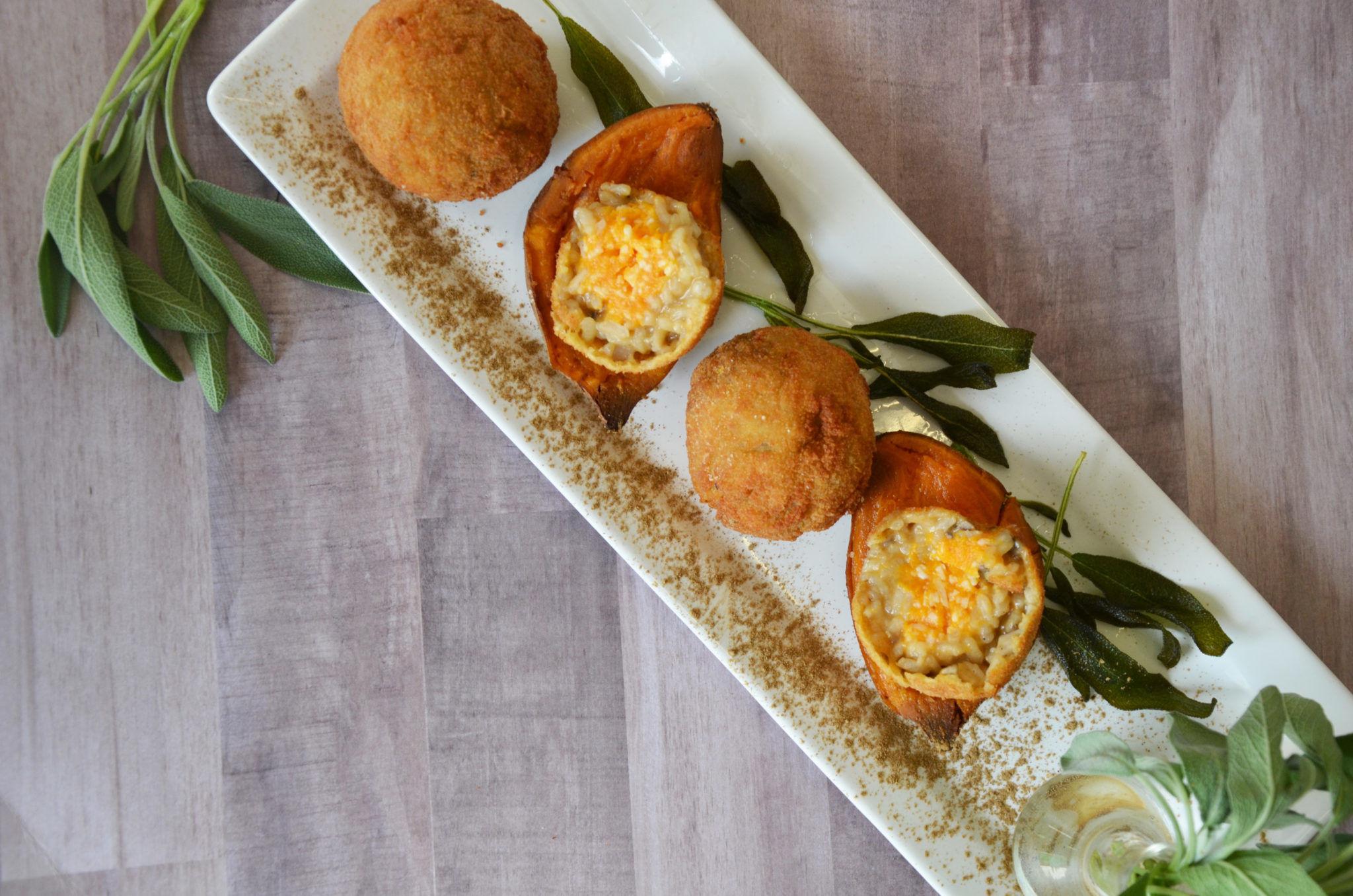 Wild Mushroom and Sweet Potato Arancini