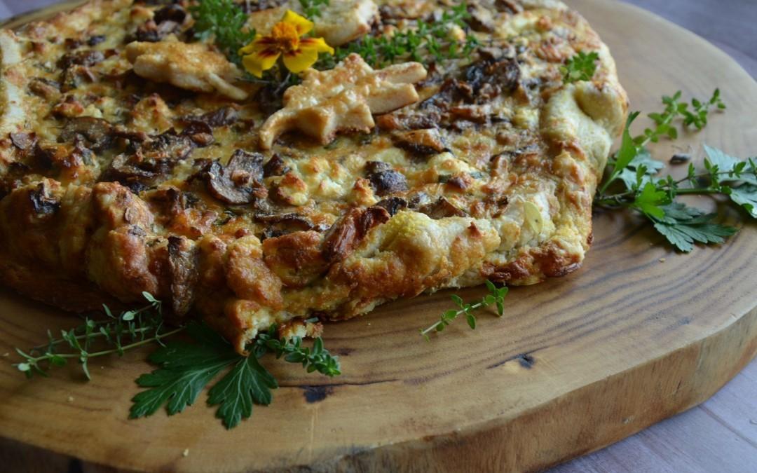 Cremini Mushroom Tart with Reserved Gruyere