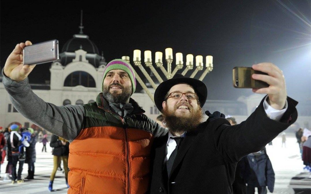In Budapest, Chanukah Comes Out of the Shadows and Onto the Ice Rink