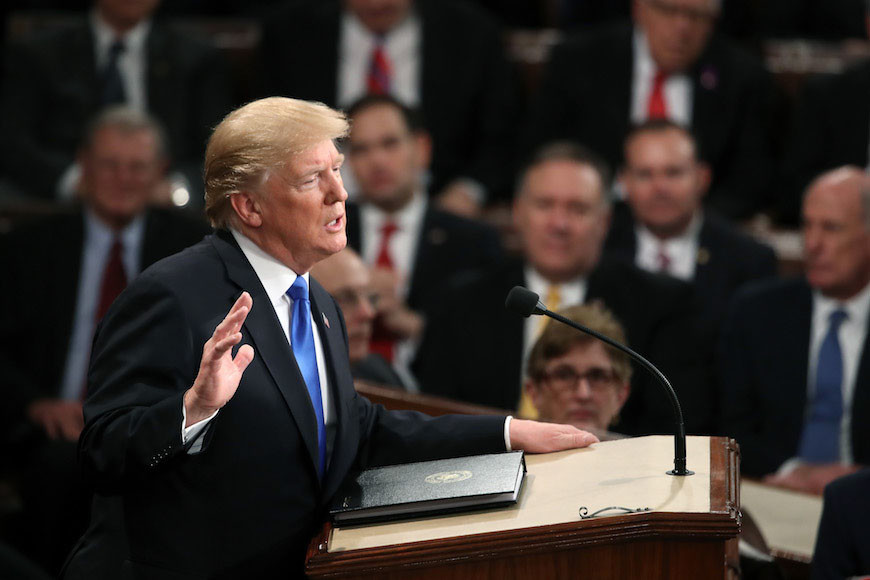 In State of the Union, Trump Vows to Punish Countries that Criticized his Jerusalem Decision