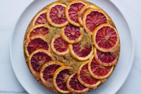 Blood Orange Semolina Cake