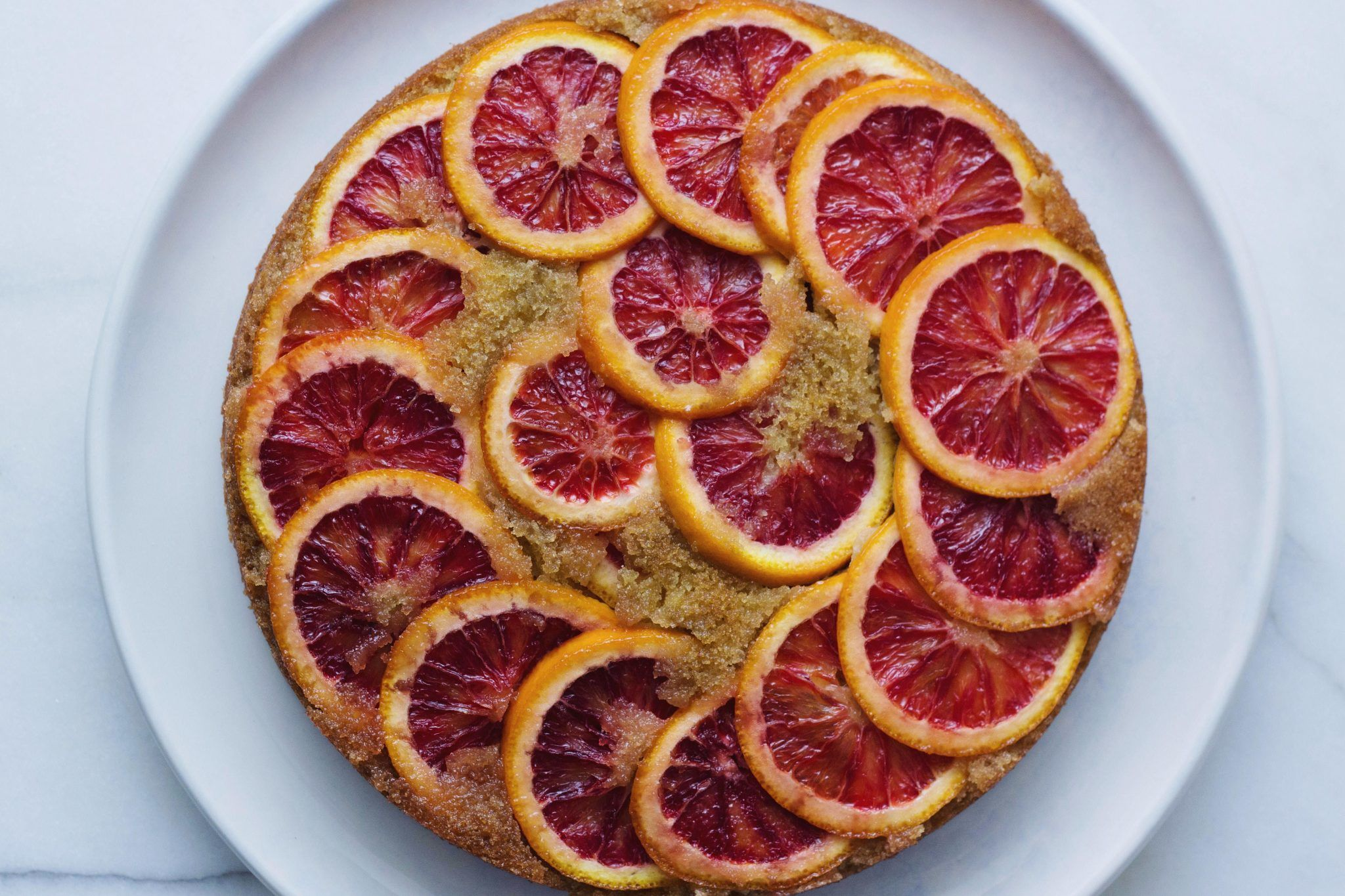 Blood Orange Semolina Cake
