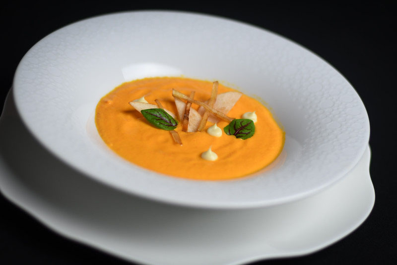 Roasted Carrot, Apple & Celery Root Soup