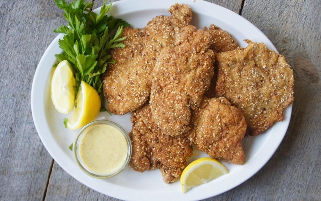 Passover-Friendly Chicken Schnitzel