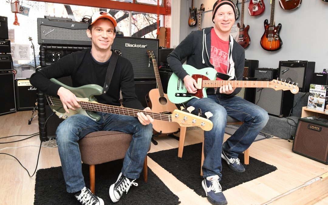 Ian and Brian Goldstein's Brothers Music Hits the Right Note with Area Guitarists