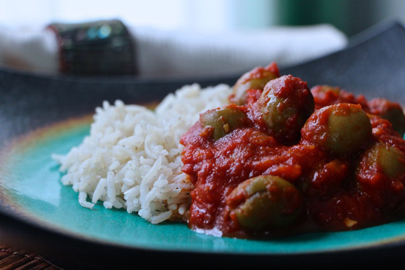 Tunisian Olive Tagine – Green Olives in Tomato Sauce