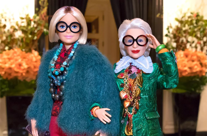Fashion Guru Iris Apfel, 96, Immortalized as Barbie Doll