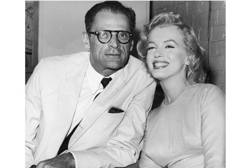 Arthur Miller with wife Marilyn Monroe