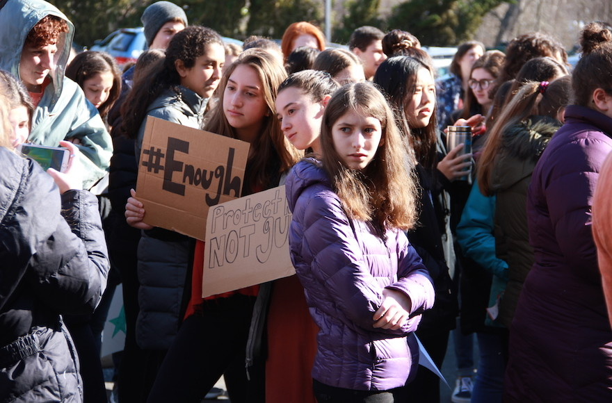 Jewish Day Schools Across the Country Join Walkouts Demanding Action on Gun Violence