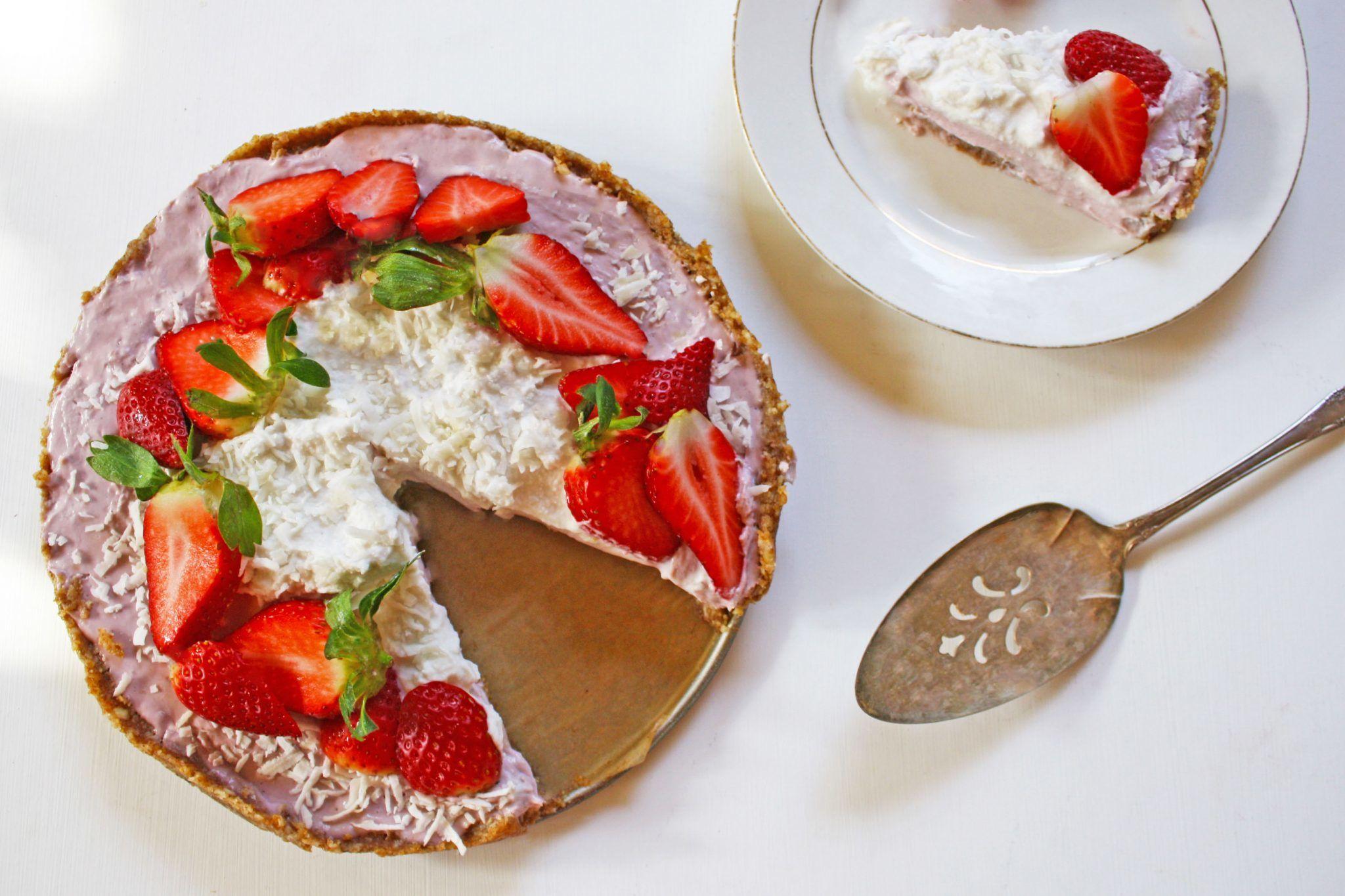 Strawberry Coconut Pie