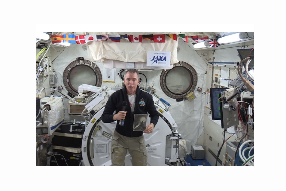 US Astronaut Records Holocaust Remembrance Message in Space