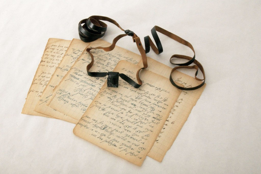 A set of tefillin and diary pages