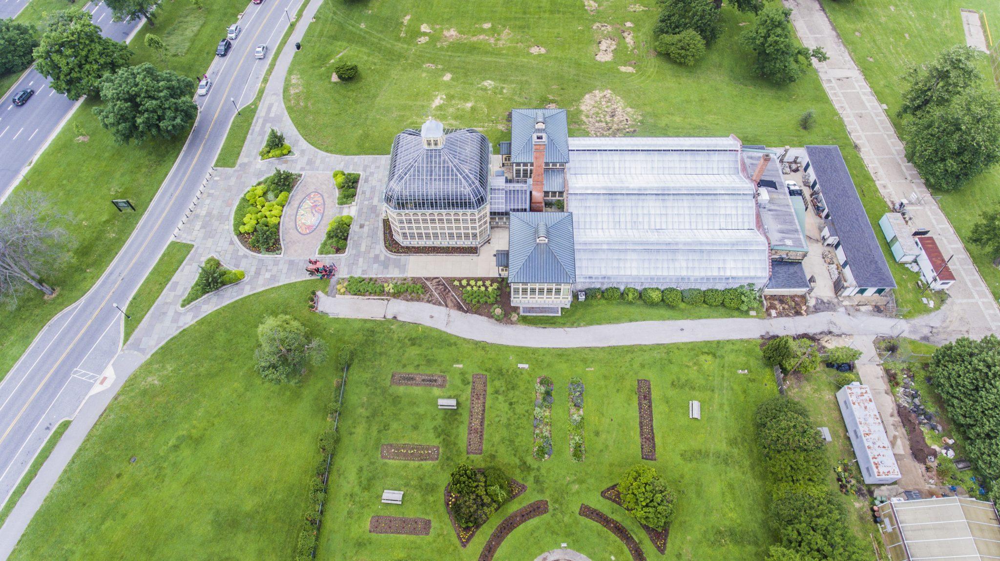 Aerial Image Howard Peters Rawlings Conservatory