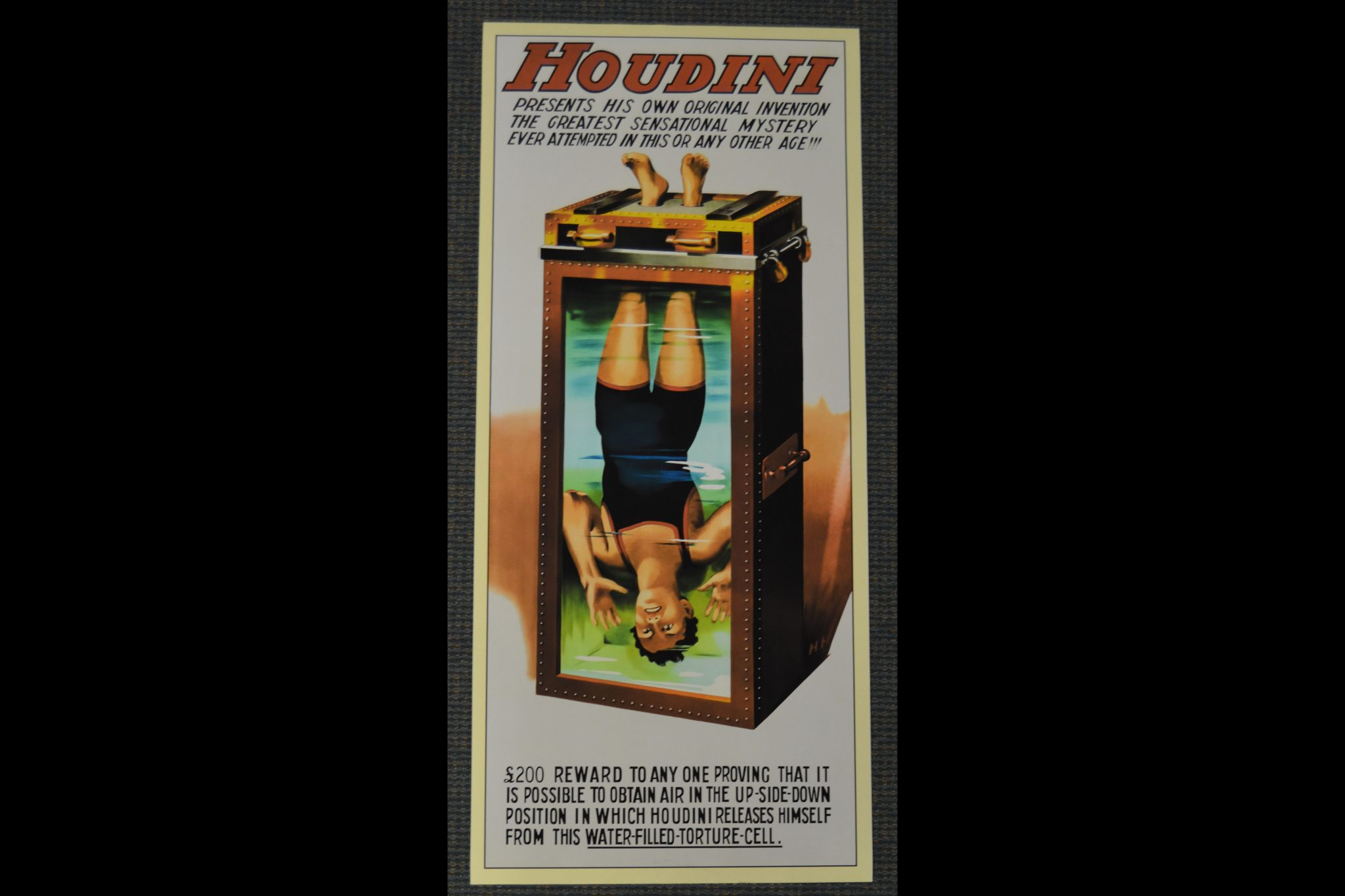 Houdini water torture poster