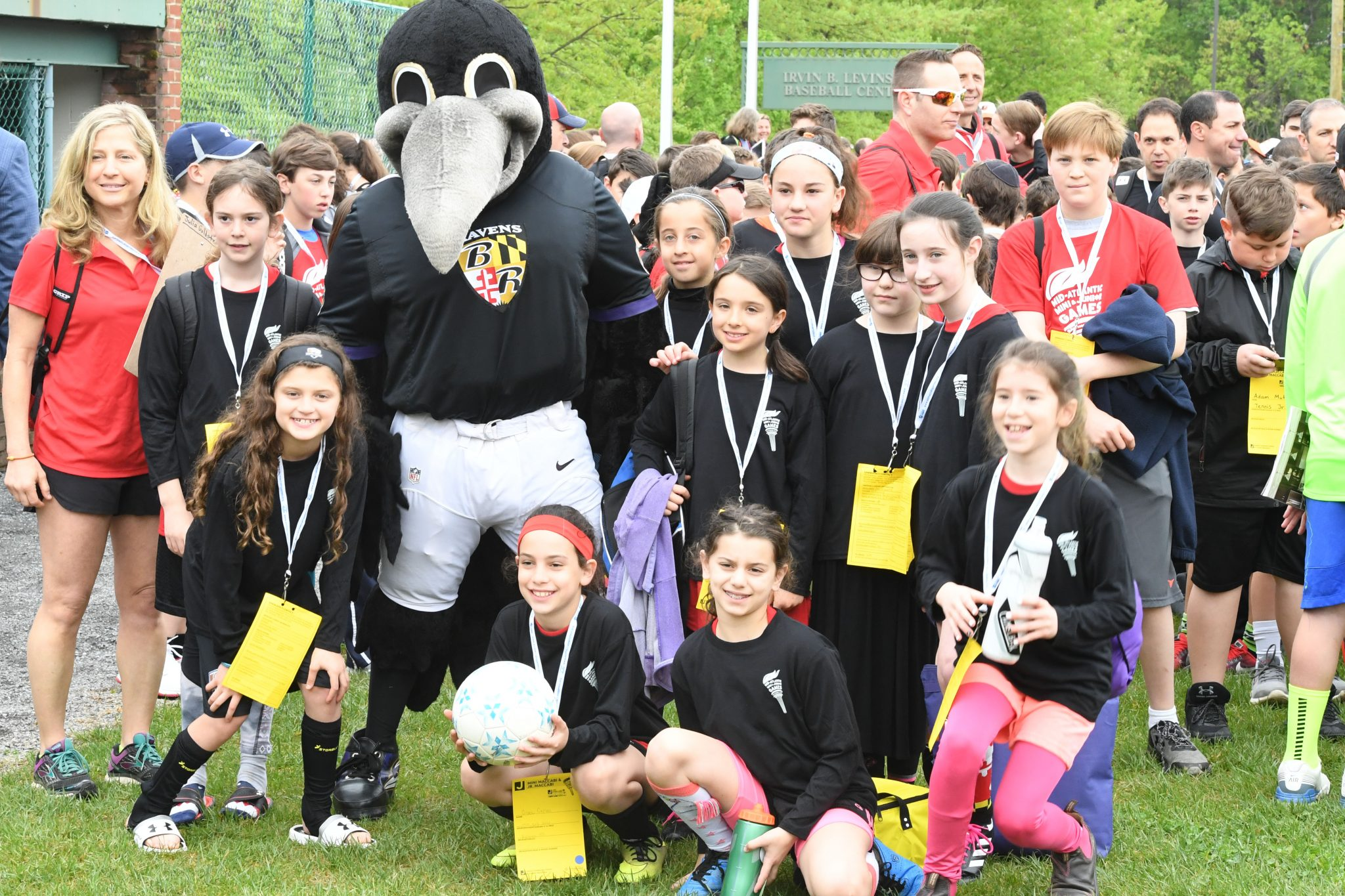 Posing with the Ravens mascot