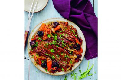 Moroccan-Style Brisket with Dried Fruit and Capers