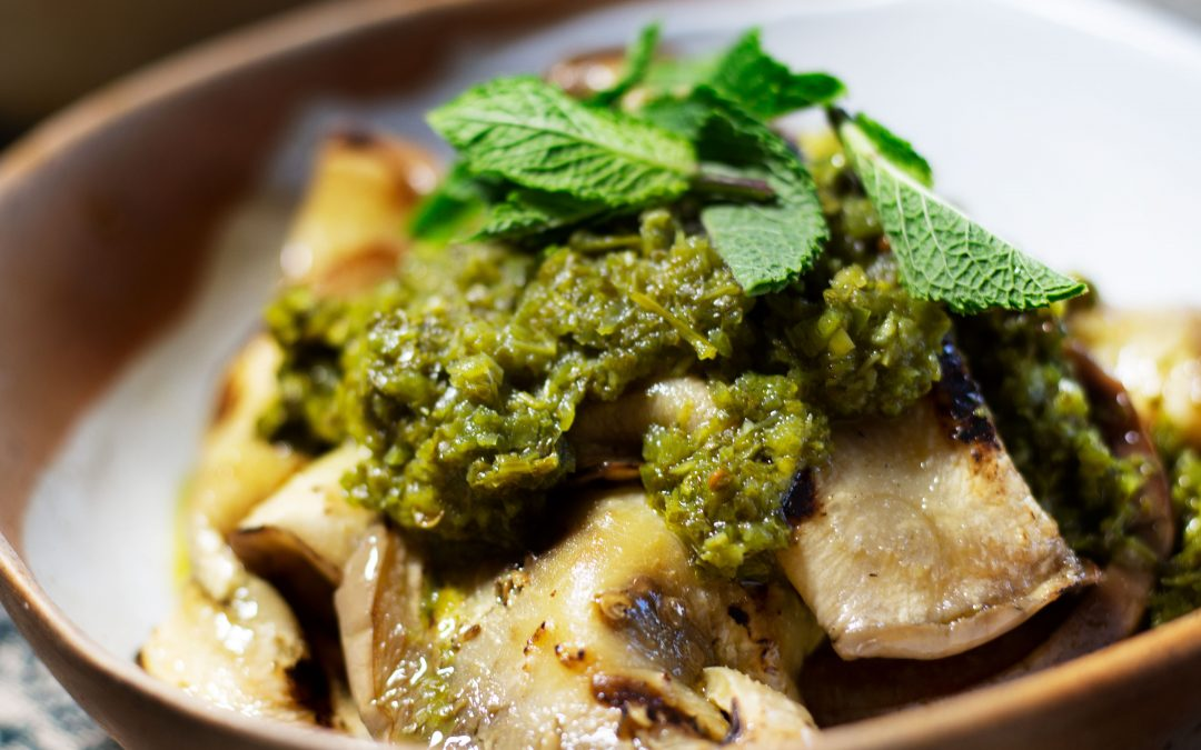 Grilled Eggplant with Chermoula Recipe