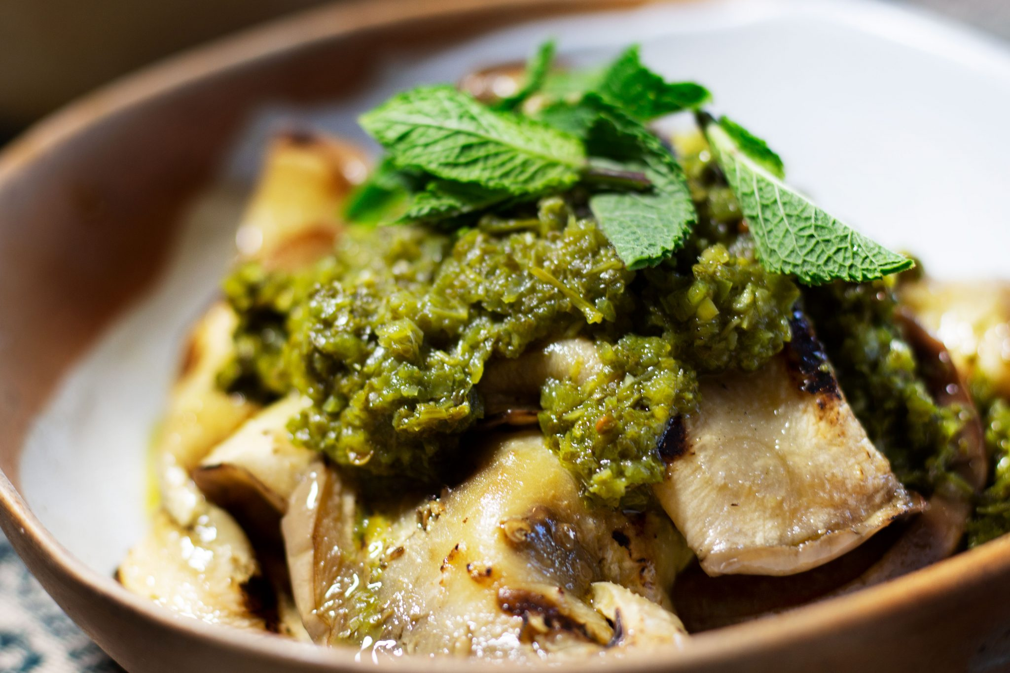 Grilled Eggplant with Chermoula