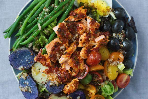 Harissa Salmon Nicoise Salad