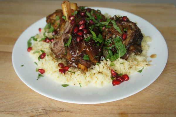 Lamb stew with pomegranate