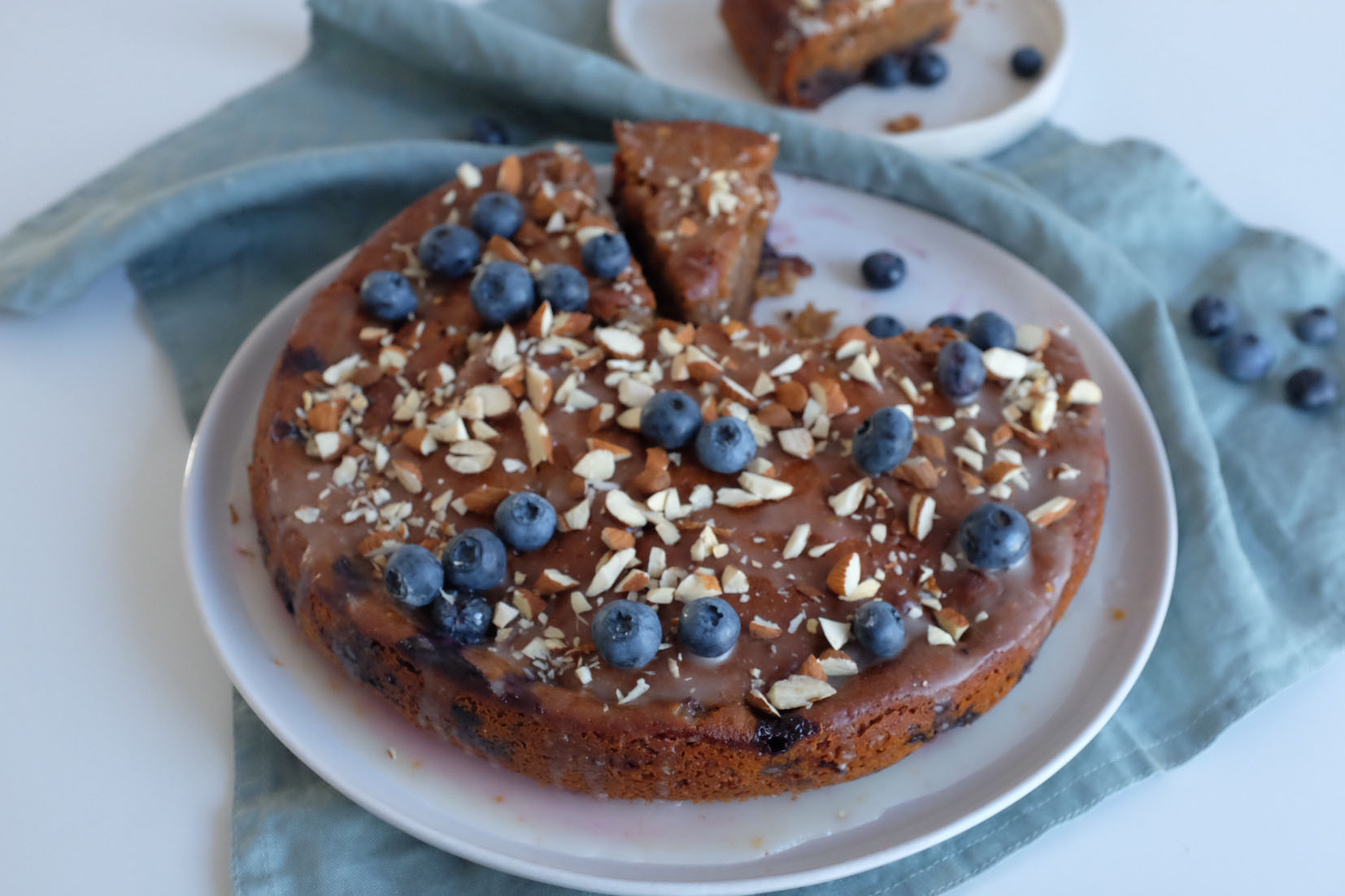 Blueberry Honey Cake