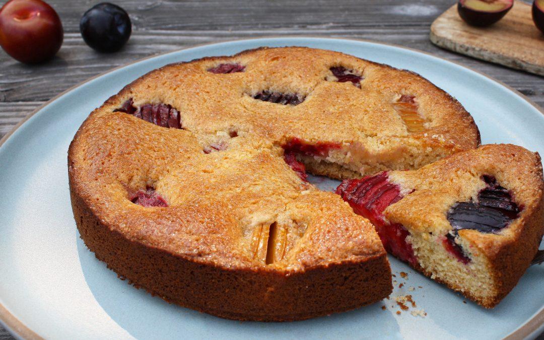 Sunken Plum Cake Recipe