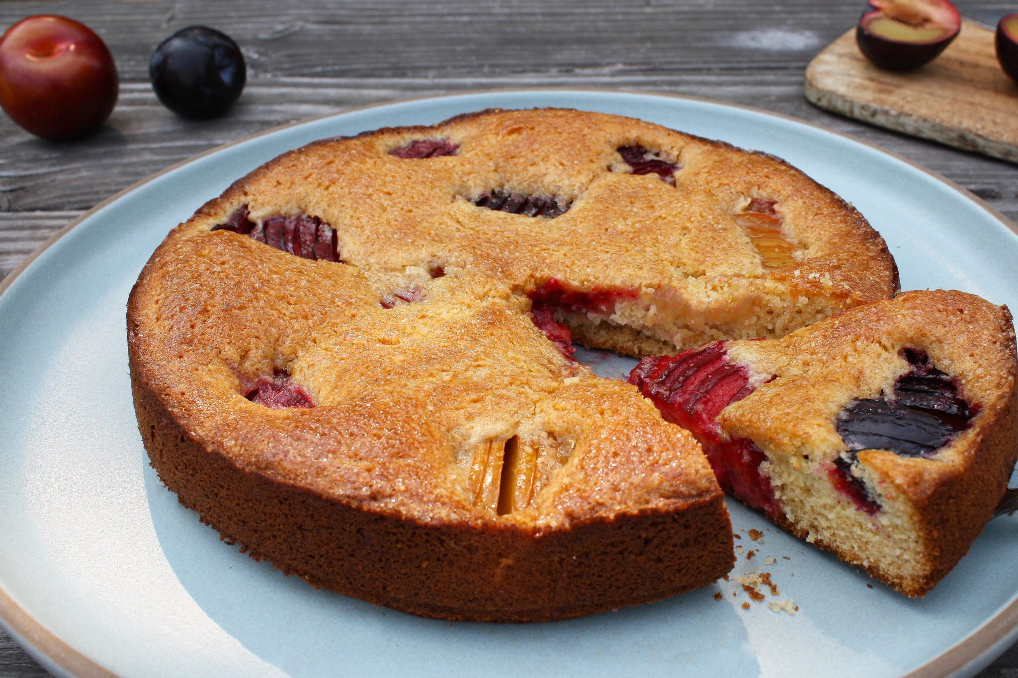 Sunken Plum Cake