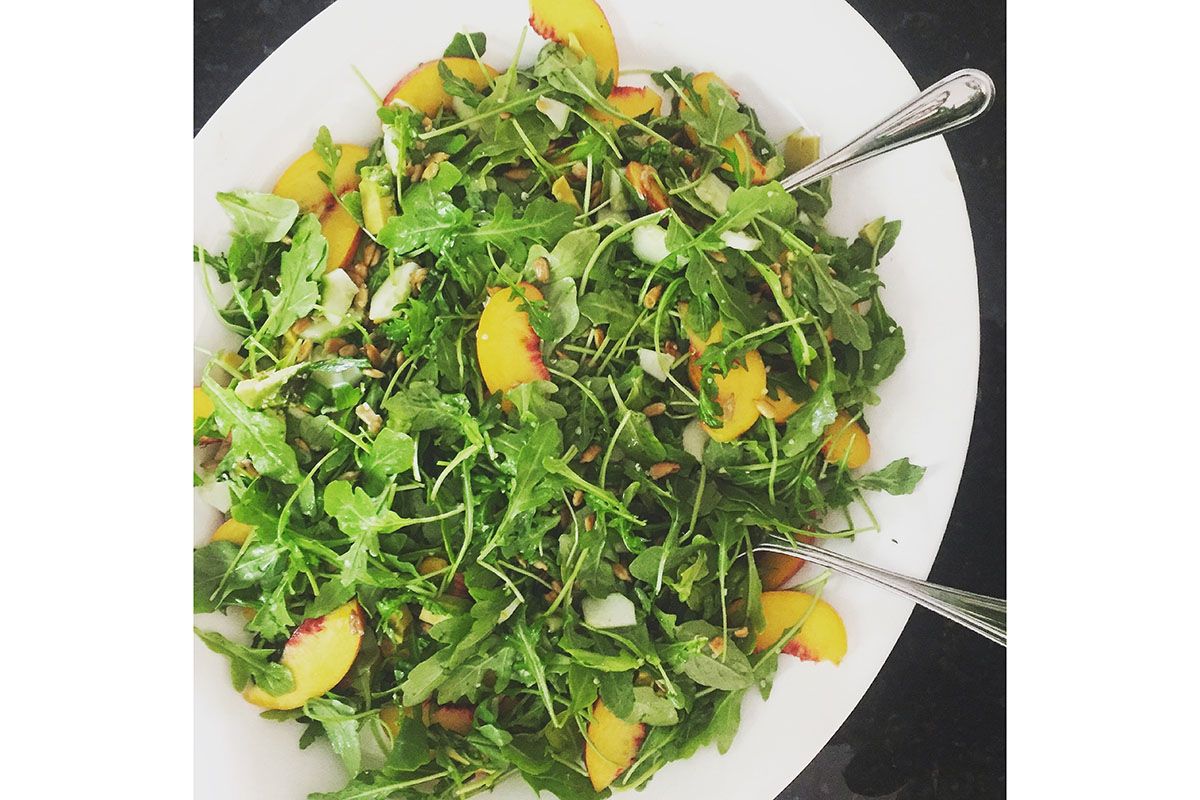 Arugula and Peach Salad