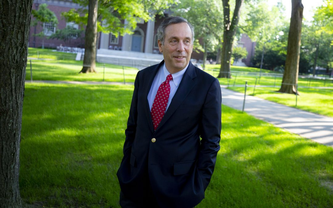 Harvard's Jewish President Wants to Restore Faith in Higher Education