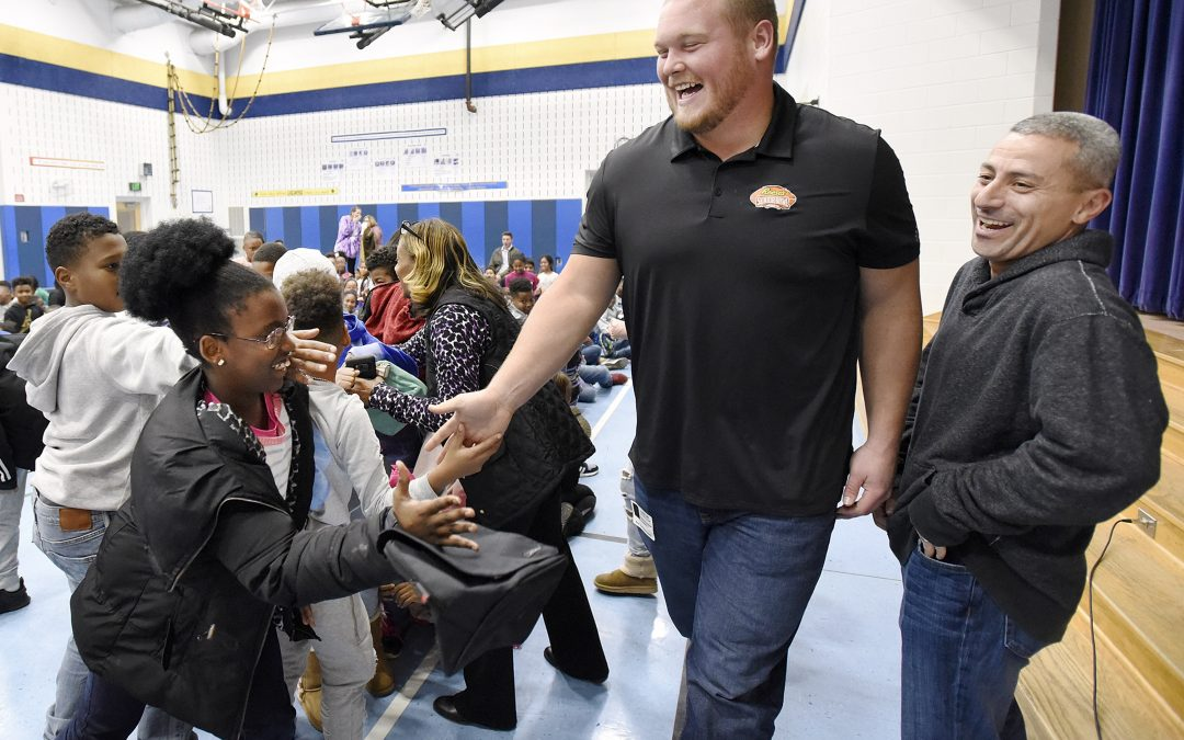 Ravens' Bradley Bozeman and his Fiancée Speak to Students about Bullying