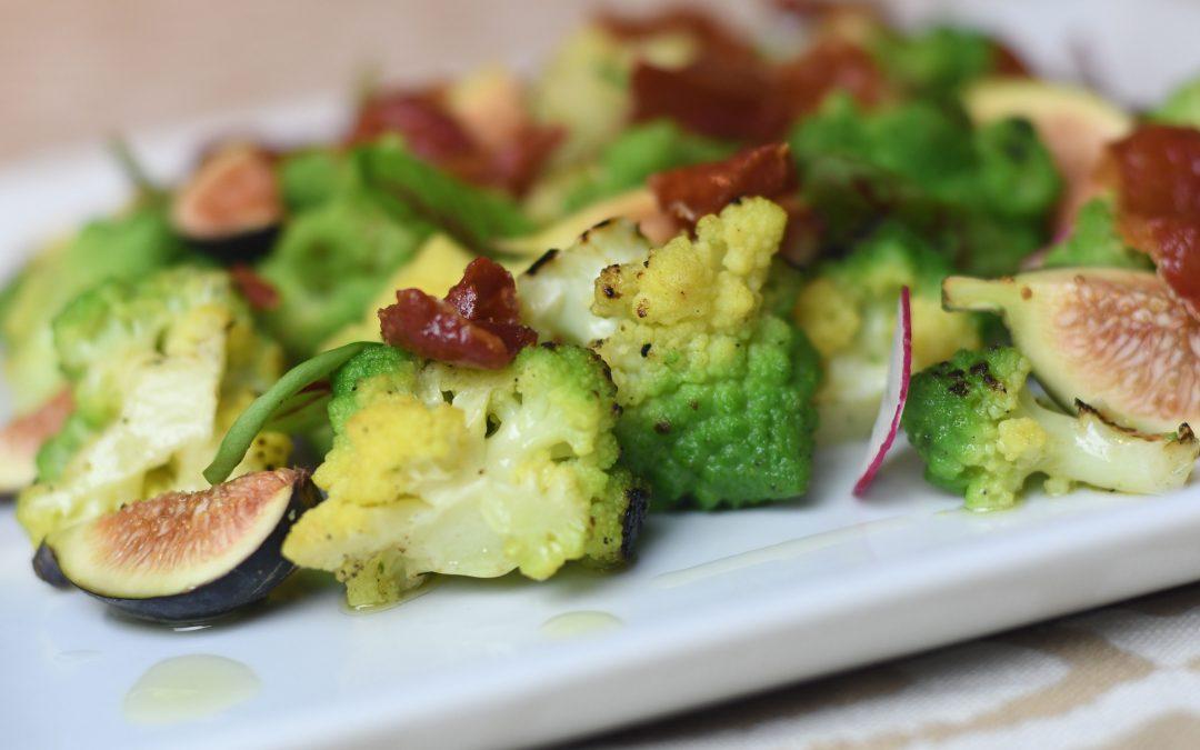 Roasted Romanesco Cauliflower Salad with Figs