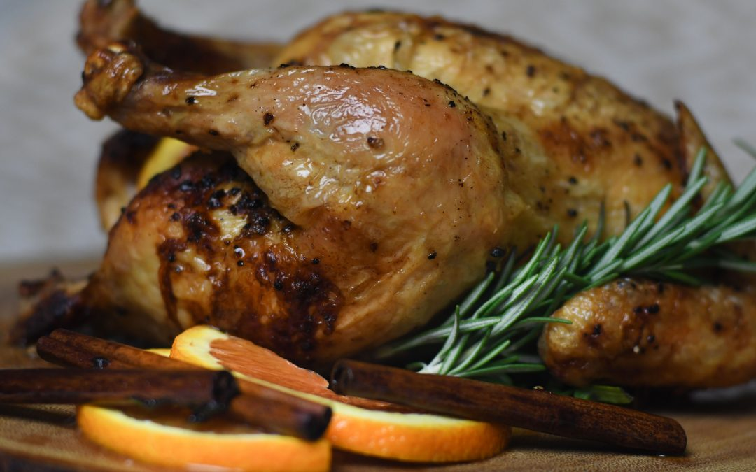 Cider Brined Chicken with Cinnamon and Orange