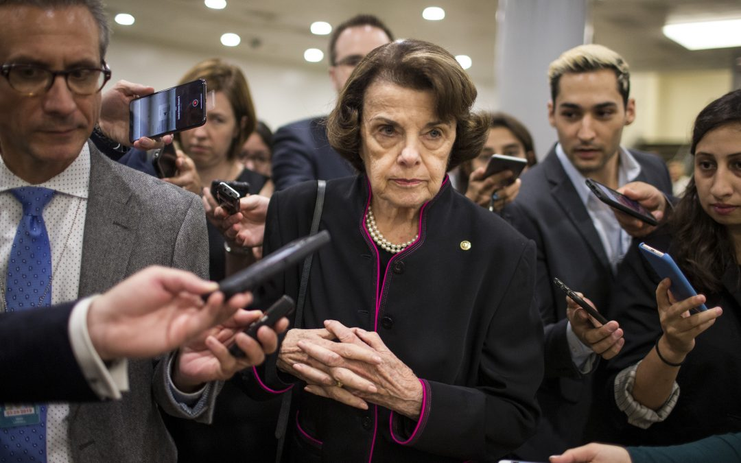 Dianne Feinstein was Elected During 1 Supreme Court Controversy. Now She's Front & Center in the Kavanaugh Turmoil.