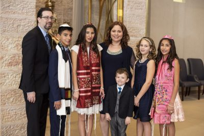 Family Celebrates B'nai Mitzvah of their Adopted Children