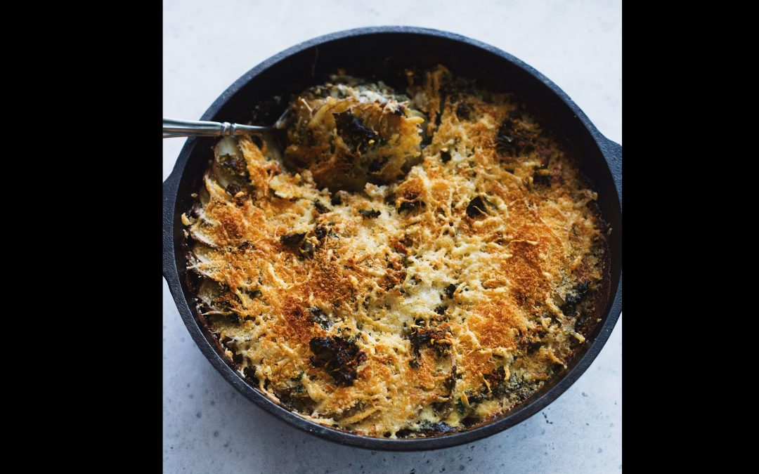 Cheesy Kale and Potato Gratin Recipe
