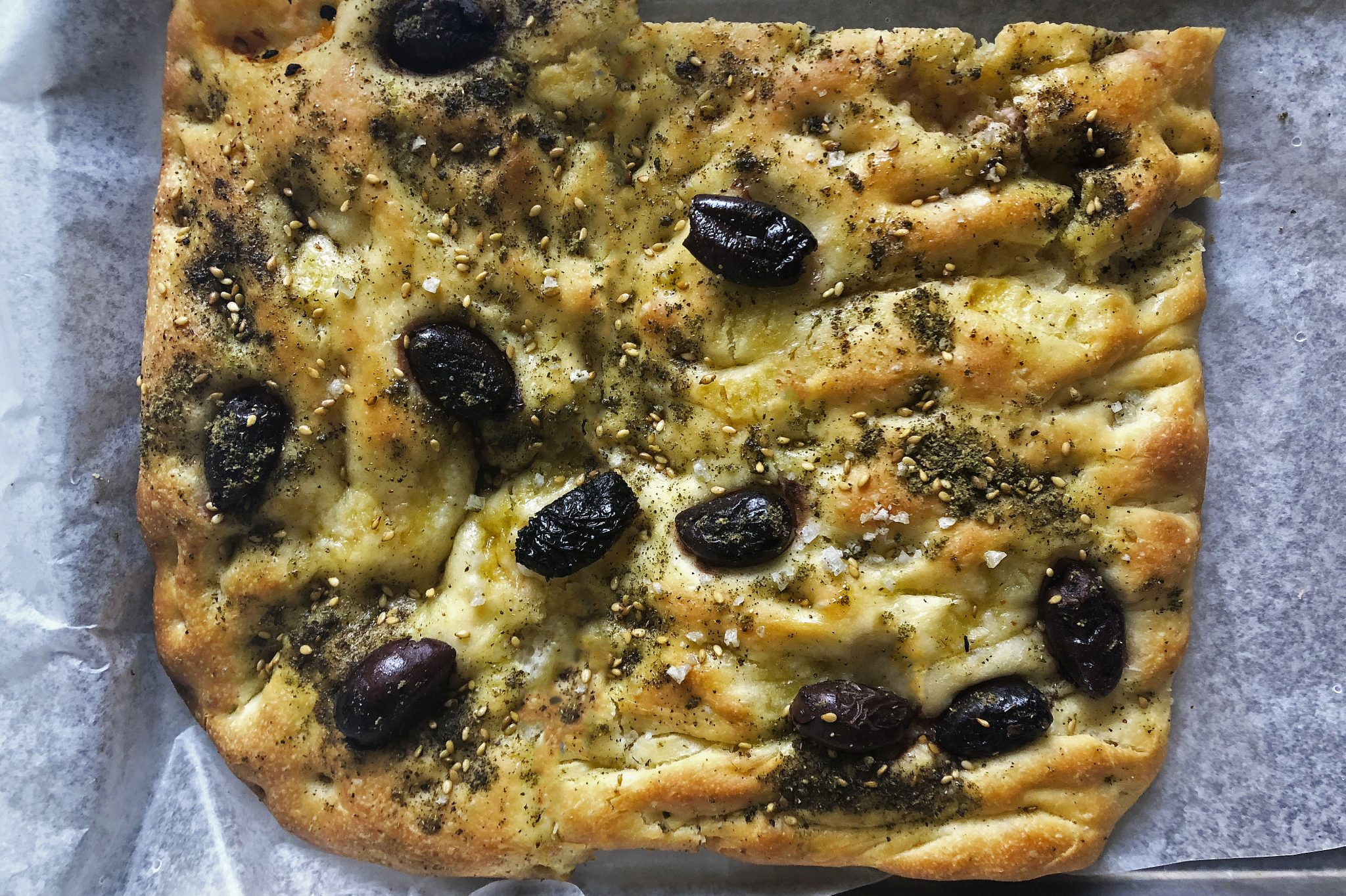 Za'atar and Olive Focaccia